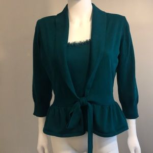 Limited teal sweater and cami